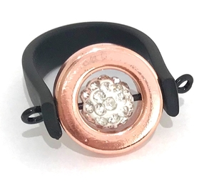 Rose gold crystal ring